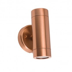 Brass Spot Light Double Beam 2xGU10 35W Ø63 IP55 ΧΥΤΟΜΕΤΑΛ