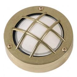 Brass Sconce Light Round With Grid G9 LUNA5 IP64 UNIVERSE