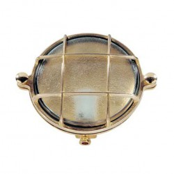 Brass Turtle Type Outdoor Small Round Lamp Grid E27 40W 15,5Ø IP55 ΧΥΤΟΜΕΤΑΛ