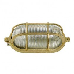 Brass Turtle Type Outdoor With Screws Oval Lamp Grid E27 40W L22 H10 IP55 ΧΥΤΟΜΕΤΑΛ