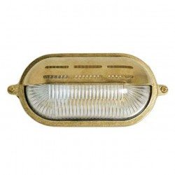 Brass Turtle Type Outdoor Oval Sheltered Lamp Grid E27 60W L22 H10 IP55 ΧΥΤΟΜΕΤΑΛ