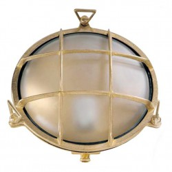 Brass Turtle Type Outdoor Big Round Lamp Grid E27 40W 24Ø IP64 UNIVERSE