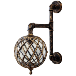 Wall light / Sconce E27 PP-27AP-2B-LP-530 In Color Patina Bronze And Patina Paint Selection E27 Heronia Lighting
