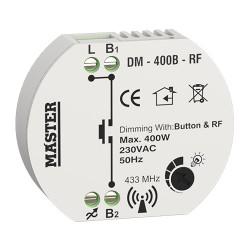 FLUSH – MOUNTED DIMMER 400W (CONTROL WITH BUTTON & RF) DM-400B-RF
