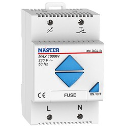 RAIL MOUNTING DIGITAL DIMMER 1000 Watt (Remote Control) DM-DGL/B
